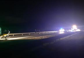 Na drodze S5 skończyło im się paliwo. Kierowca omal nie przypłacił tego życiem-50043