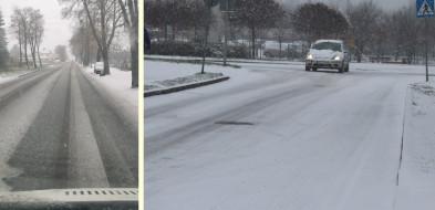 Jak informują  nasi czytelnicy, na drogach zrobiło się niebezpiecznie-50094