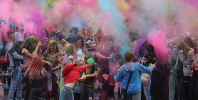 """Pierwsza w tym roku """"parkowa impreza"""" Było gwarnie, muzycznie i kolorowo...-52167"""