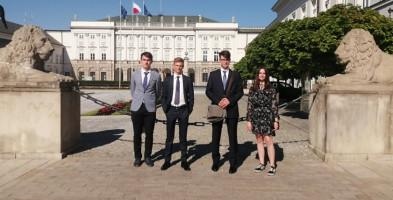 Podczas wizyty w Pałacu Prezydenckim spotkali się również z Pierwszą Damą RP-52213