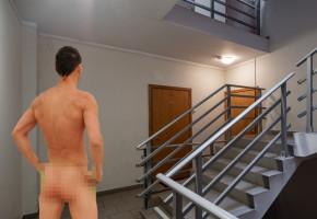 Nagi mężczyzna zabawiał się sam ze sobą w klatce schodowej? Sąsiedzi zareagowali-52245