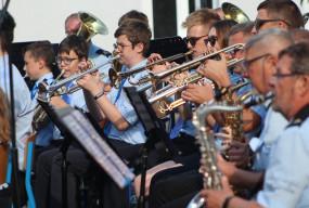 Efekt okazał sięniesamowity...Ponad stu muzyków zagrało znane utwory w parku-52352