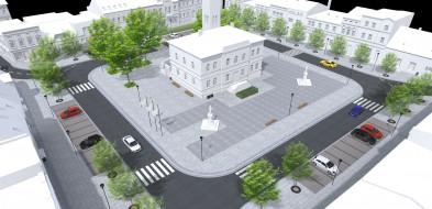 Rynek w Krobi cały czas w budowie, tymczasem już szykują się zmiany-53517