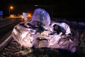 Prawdopodobnie zasłabł za kierownicą. Po wyciagnięciu z wraku trafił do szpitala-53565