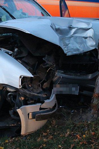 Wypadek samochodu osobowego w Ludwinowie-8877
