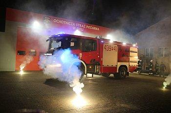 Powitanie nowego auta strażackiego w Goli-8901