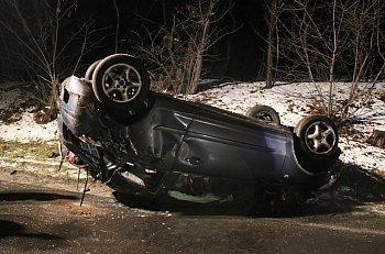 Wypadek na trasie Poniec-Pawłowice-8940