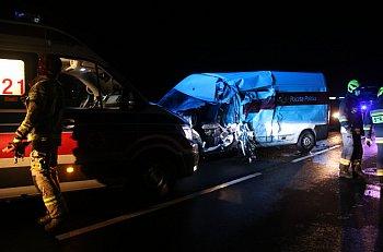 Wypadek samochodów dostawczych między Gostyniem a Krobią-8945