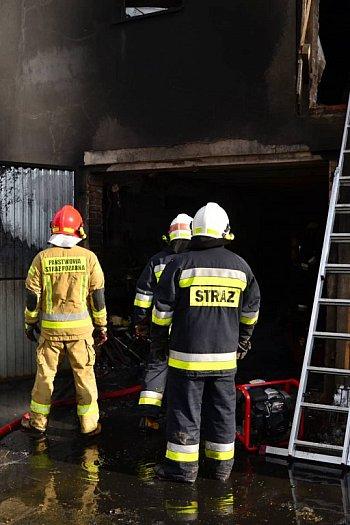 Pożar w budynku gospodarczym w Wycisłowie-8961