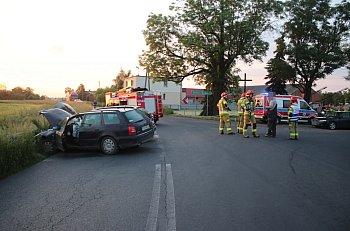 Zderzenie dwóch samochodów w Taniecznicy-9050