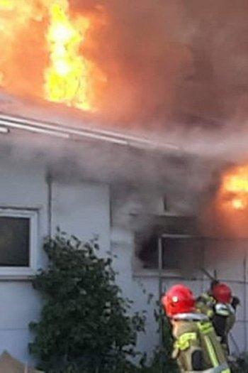 Pożar odlewni żeliwa w gminie Osieczna-9053