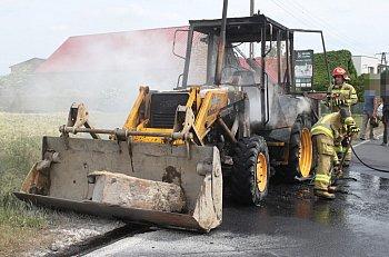 Pożar koparko-ładowarki na DW 434-9061
