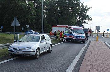 Zderzenie dwóch samochodów na obwodnicy Borku Wlkp.-9118
