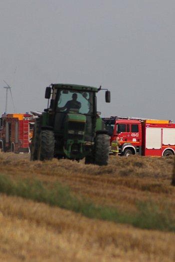 Pożary podczas prac żniwnych w dwóch gminach-9119