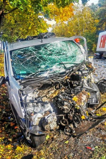 Tragiczny wypadek na trasie Gostyn - Poznań.-9252