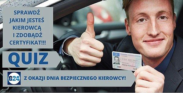 Quiz z okazji Dnia Bezpiecznego Kierowcy. Sprawdź czy znasz przepisy i zdobądź specjalny Certyfikat!-30