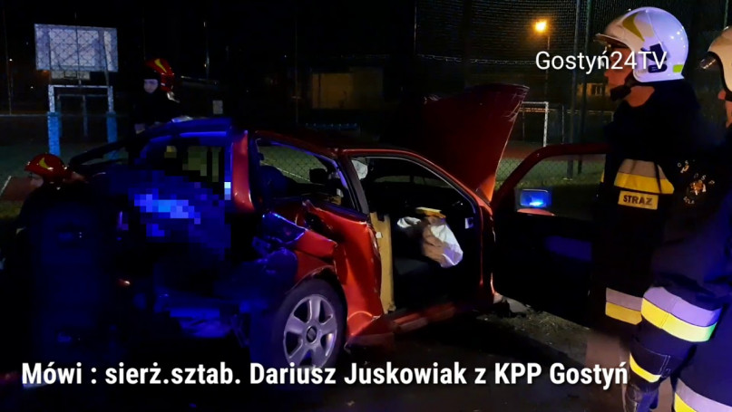 Nocny wypadek w Goli