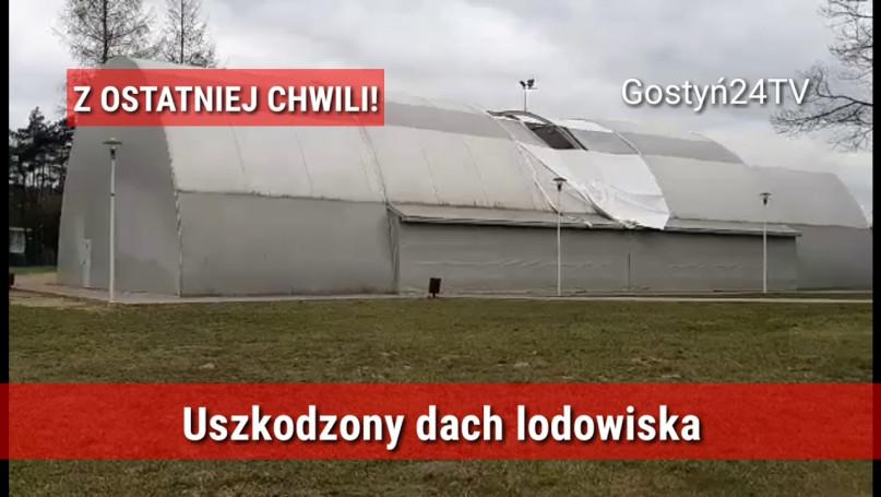 Wiatr uszkodził dach lodowiska