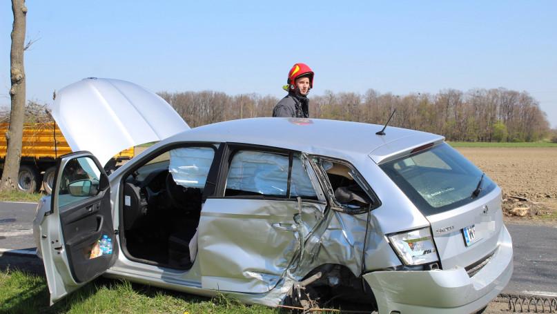 Poważny wypadek na trasie Pępowo Siedlec. Na pomoc