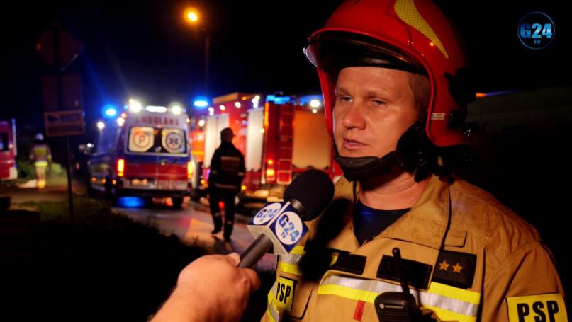 Pożar w Śmiłowie, ogień zniszczył parter domu... W budynku znajdowały się dwie osoby