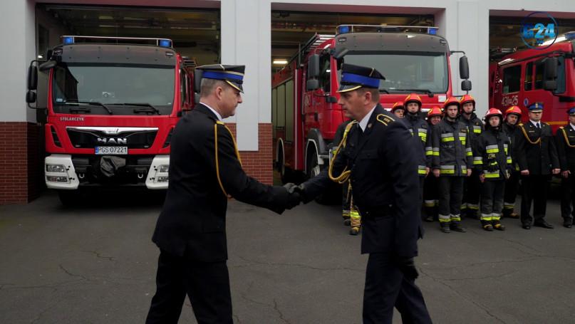 Uroczysty apel strażaków z KPP w Gostyniu