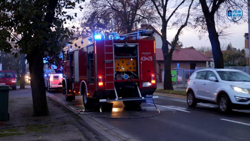 Pożar piwnicy domu jednorodzinnego w Gostyniu... Wszystko przez wadliwą instalację elektryczną