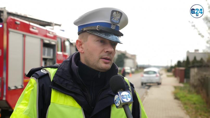 W Krobi, motocyklista zderzył się z dwoma samochodami. Na pomoc wezwano helikopter LPR