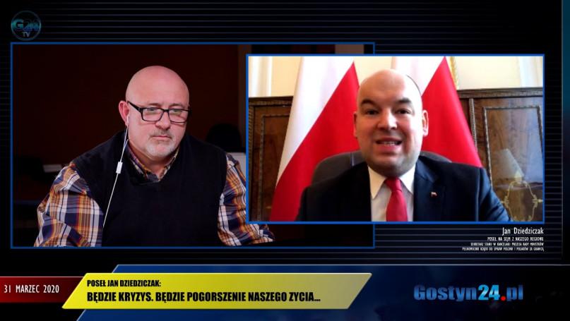 Prosto z Kancelarii Premiera. Rozmowa z posłem RP Janem Dziedziczakiem o aktualnej sytuacji w Polsce