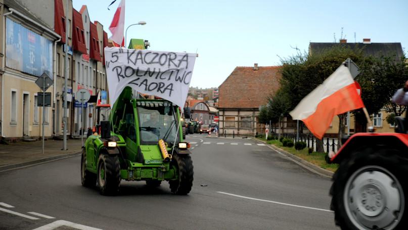 Protest rolników z powiatu gostyńskiego przeciw tz
