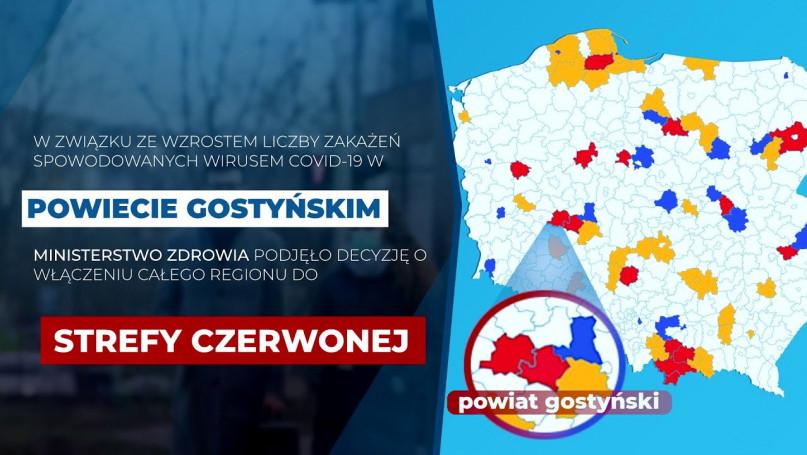 Powiat gostyński w strefie czerwonej