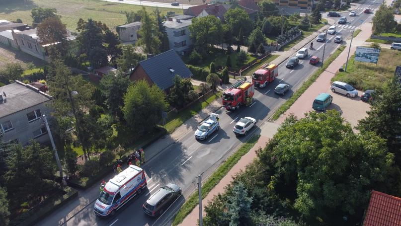 Wypadek na ul. Poznańskiej w Gostyniu