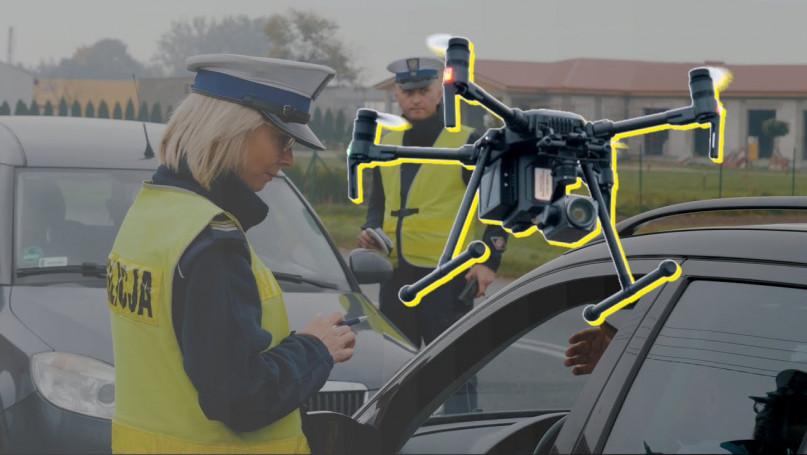 Policyjny dron patrolował powiat gostyński.